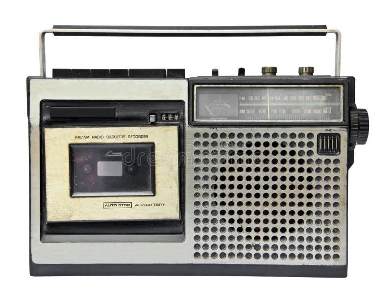 Magnétophone à cassettes par radio de vintage image libre de droits