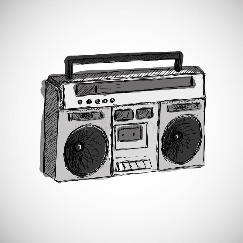 Magnétophone illustration libre de droits