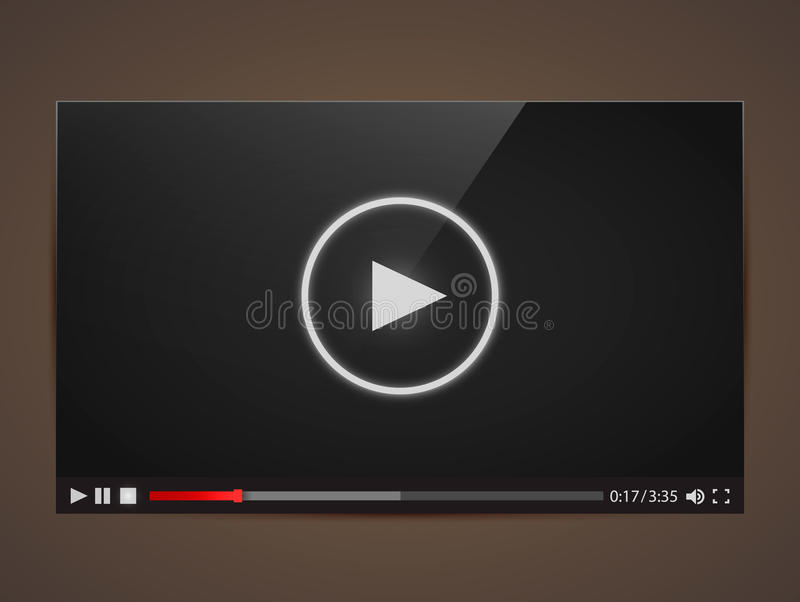 Magnétoscope moderne pour le Web illustration stock