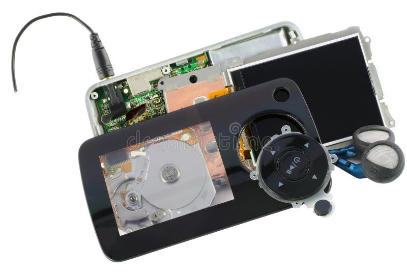 Magnétoscope sonore désassemblé criqué photographie stock libre de droits