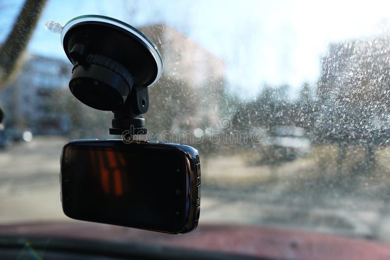 Magn?toscope pour enregistrer la situation du trafic tout en conduisant votre voiture Il peut ?tre employ? dans les voitures et d photos stock