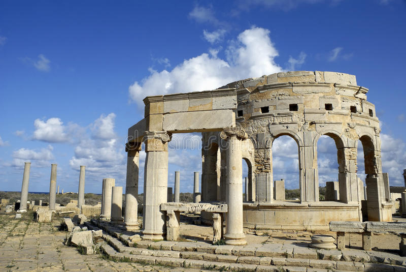 Magna de Leptis, Libia imagenes de archivo