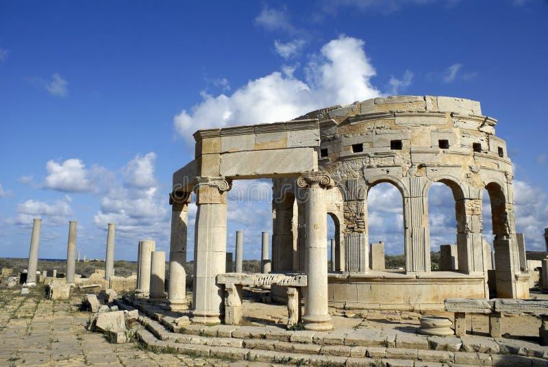 Magna Leptis, Libië stock afbeeldingen