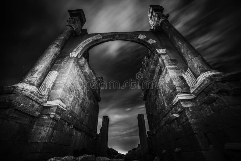 Magna Libye romaine de Leptis image libre de droits