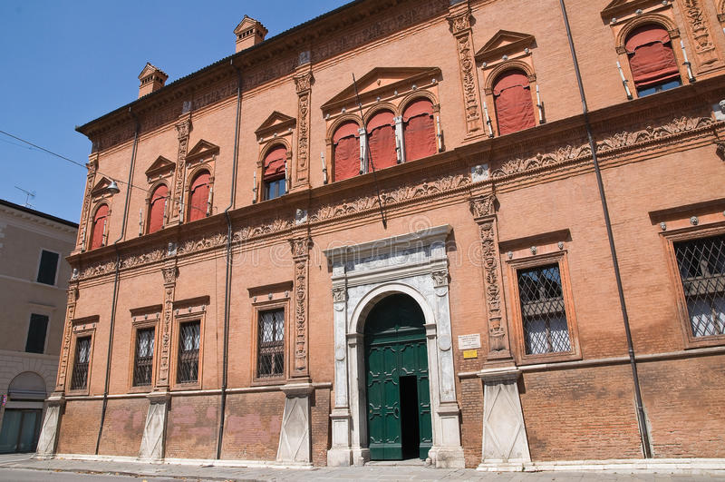 Download Magnanini- Roverella Palace. Ferrara. Stock Photo - Image of historical, facade: 21467458