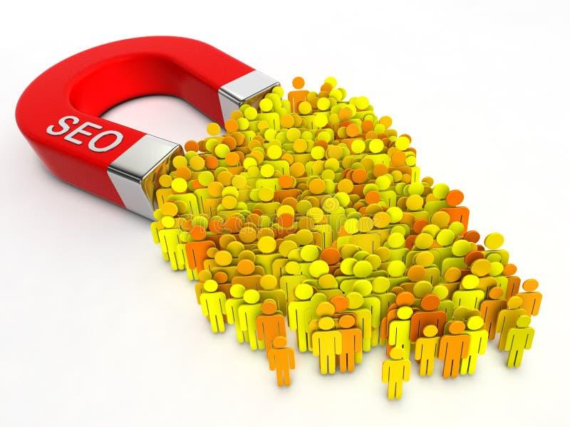 Magneet SEO stock illustratie