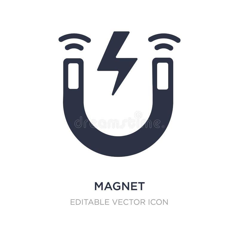 Magneetpictogram op witte achtergrond Eenvoudige elementenillustratie van UI-concept royalty-vrije illustratie