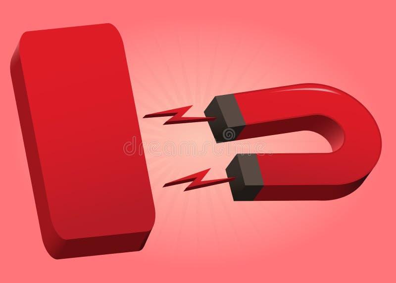 Magnes czerwieni talerz ilustracja wektor