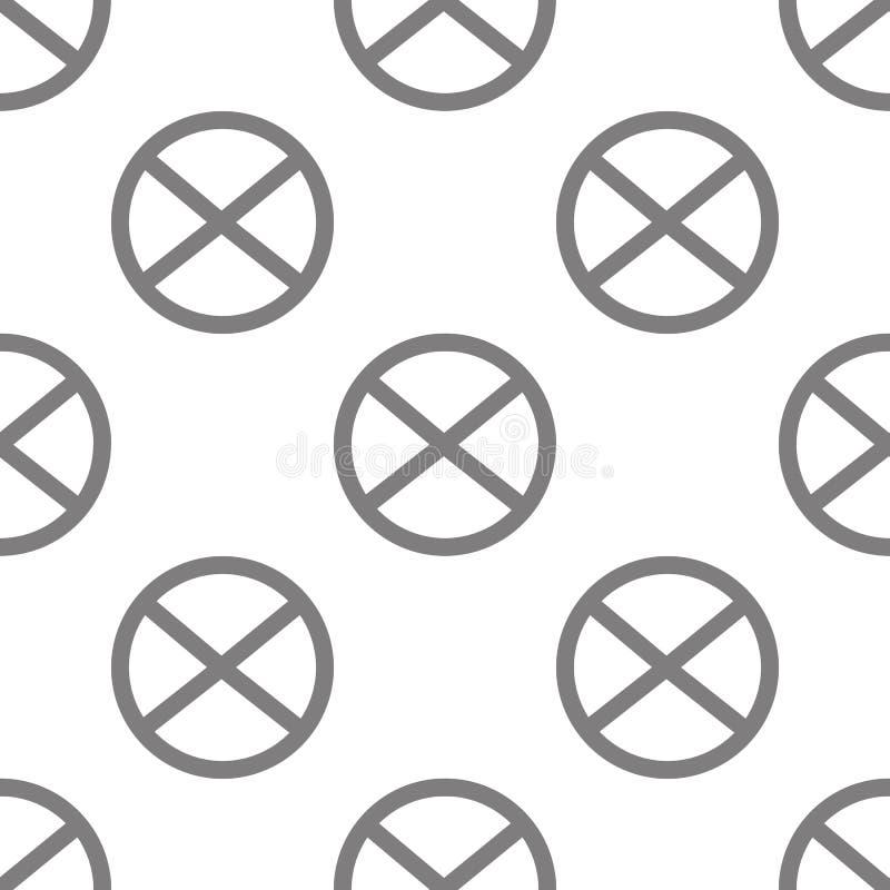 Magnes ikona Element minimalistic ikony dla mobilnych pojęcia i sieci apps Deseniowej powtórki magnesu bezszwowa ikona może używa royalty ilustracja