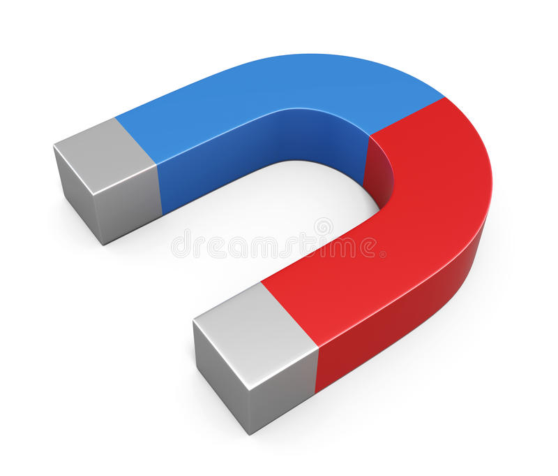 Magnes na białym tle 3d ilustracji