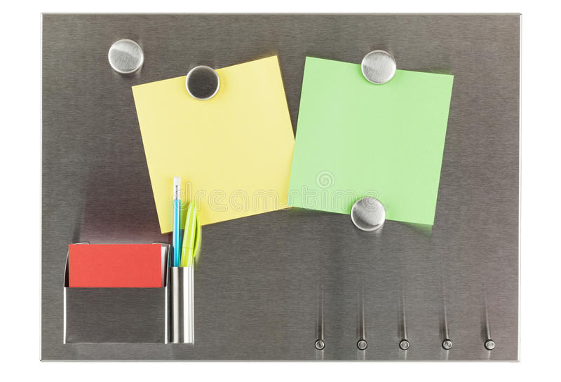Magnes tablica informacyjna Odizolowywająca obrazy stock