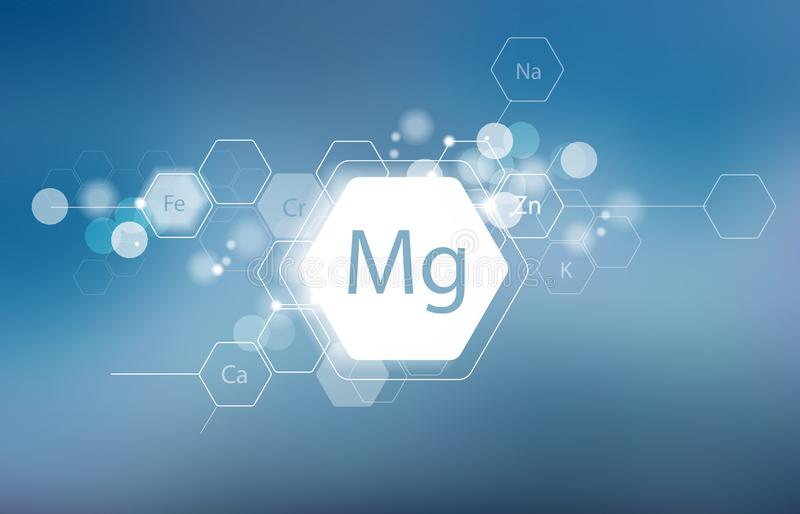 magnesio Ricerca scientifica immagine stock