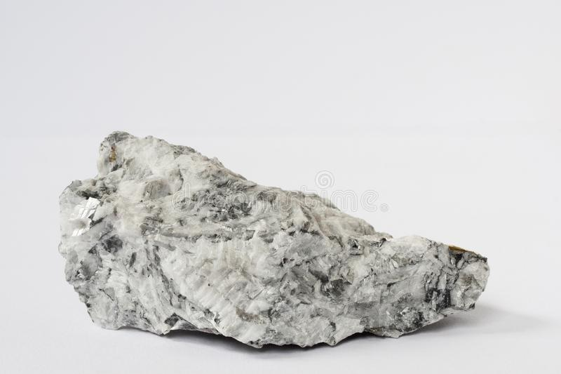 Magnesite mineral on white background royalty free stock photo