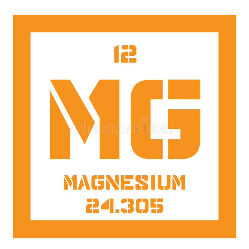 Magnesium chemisch element stock illustratie