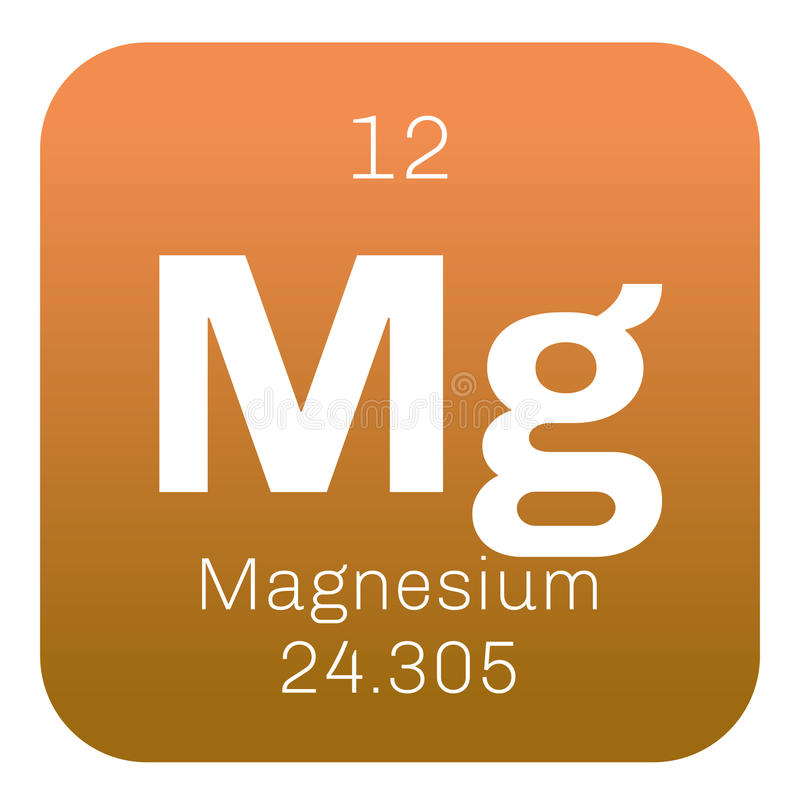 Magnesium chemisch element royalty-vrije illustratie