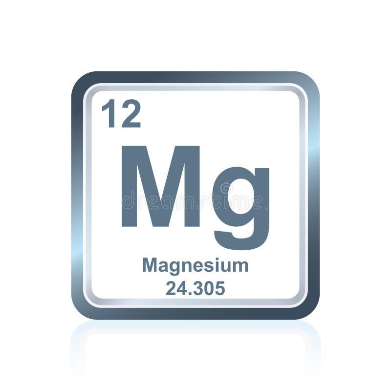 Magnesium för kemisk beståndsdel från den periodiska tabellen stock illustrationer