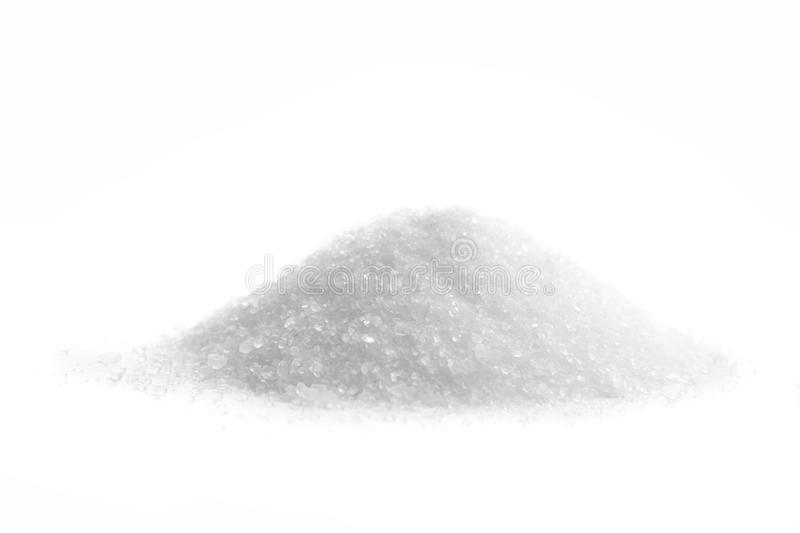 Magnesium Sulfate. Epsom Salt, isolated on white royalty free stock images