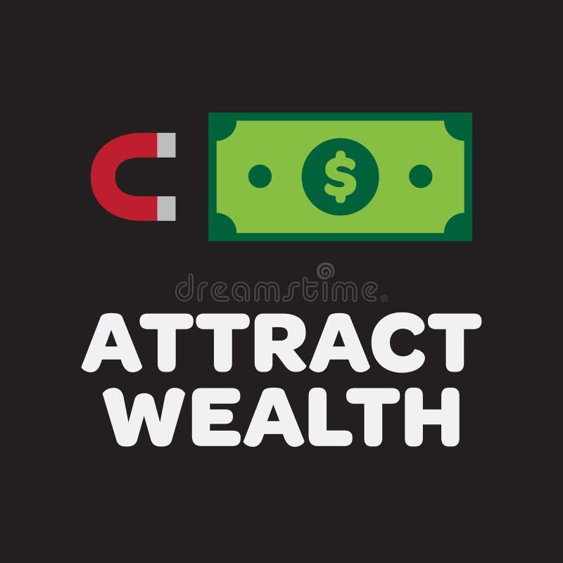 Magnesu i Dolarowego Bill ikona ilustracji