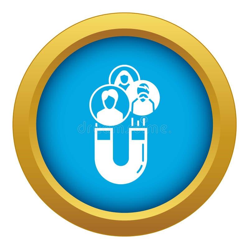 Magnesu klienta retencyjnej ikony błękitny wektor odizolowywający royalty ilustracja