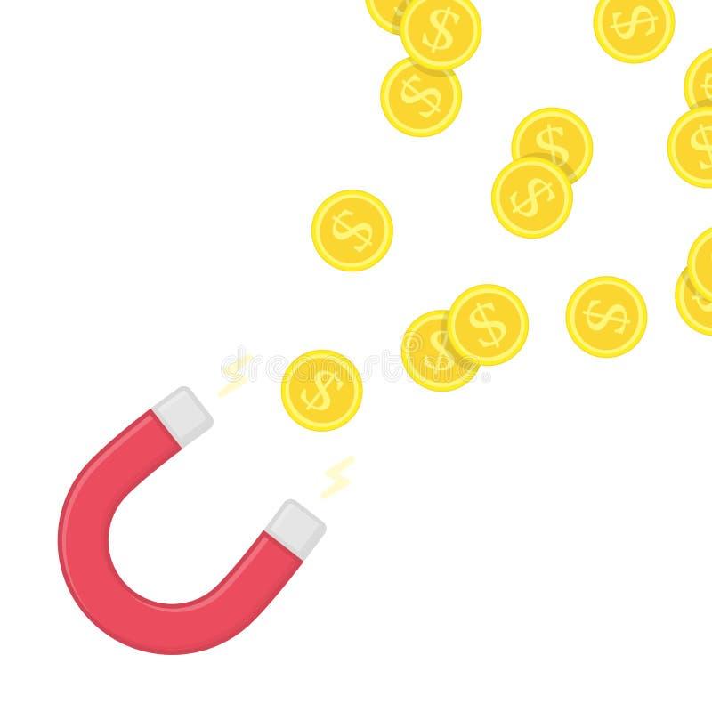 Magnesu pieniądze wektor ilustracja wektor