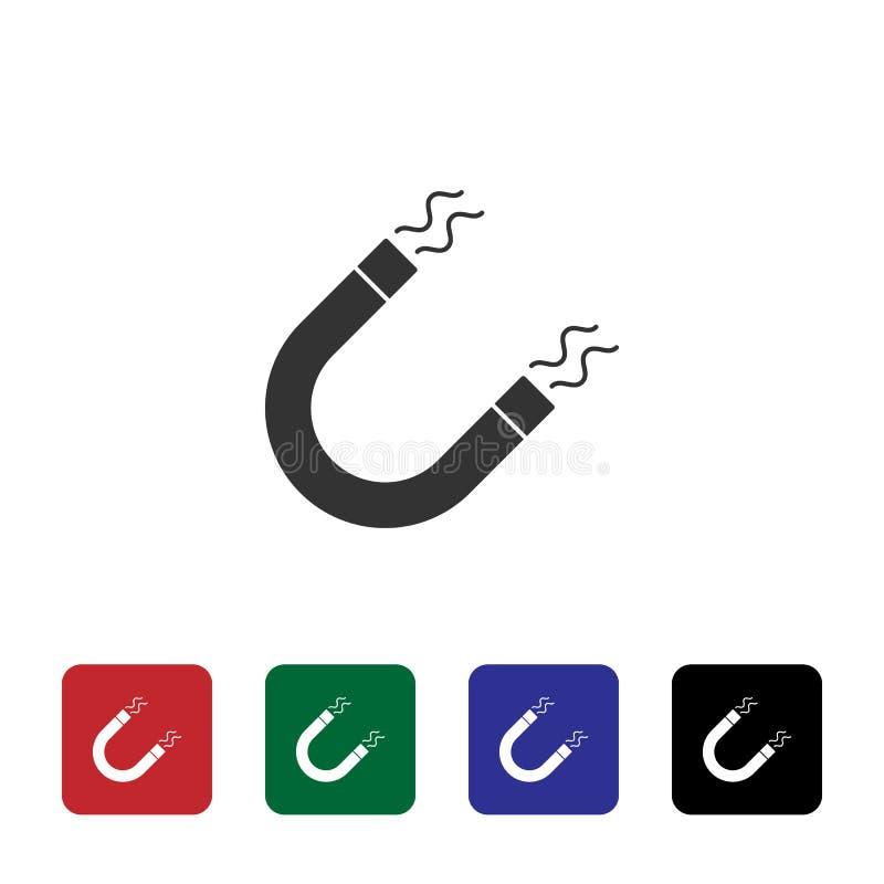 Magnesu wektoru ikona Prosta element ilustracja od biotechnologii poj?cia Magnesu wektoru ikona Bioengineering wektoru ilustracja ilustracji