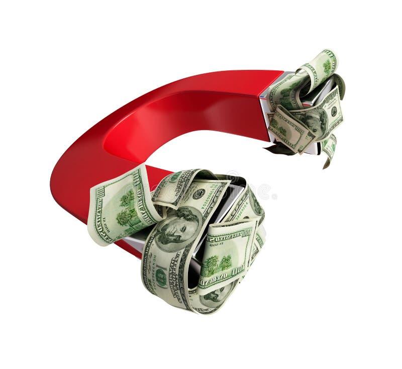 Download Magnet dollar stock illustration. Image of polar, ideas - 10747682
