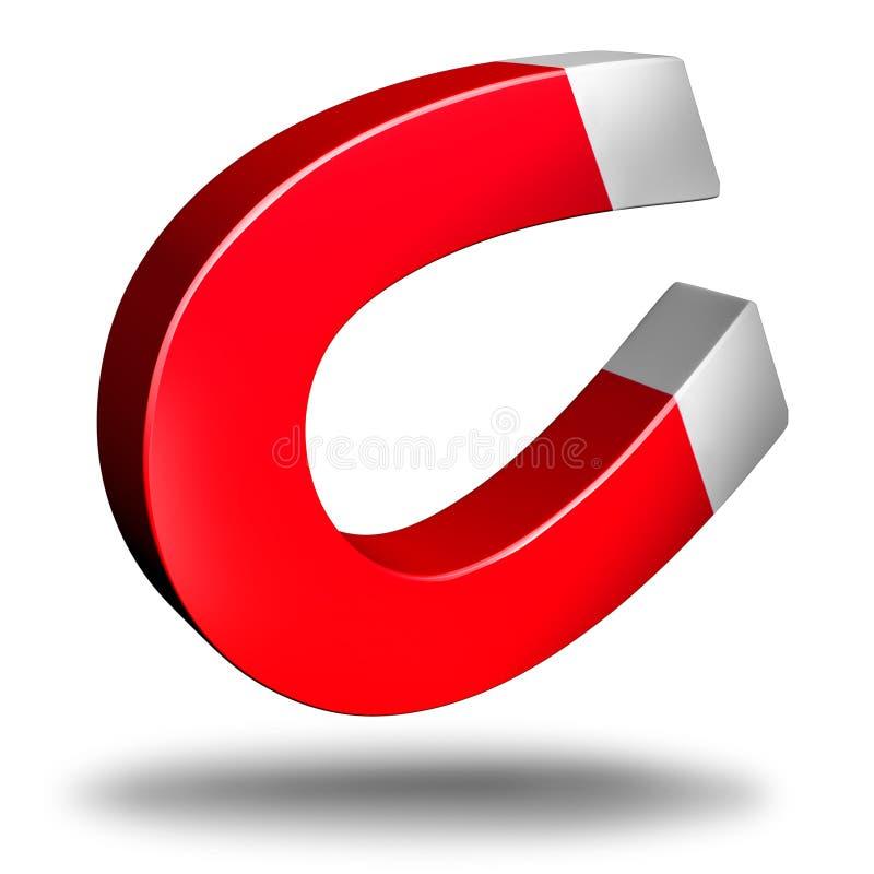 Magnet-Gegenstand lizenzfreie abbildung