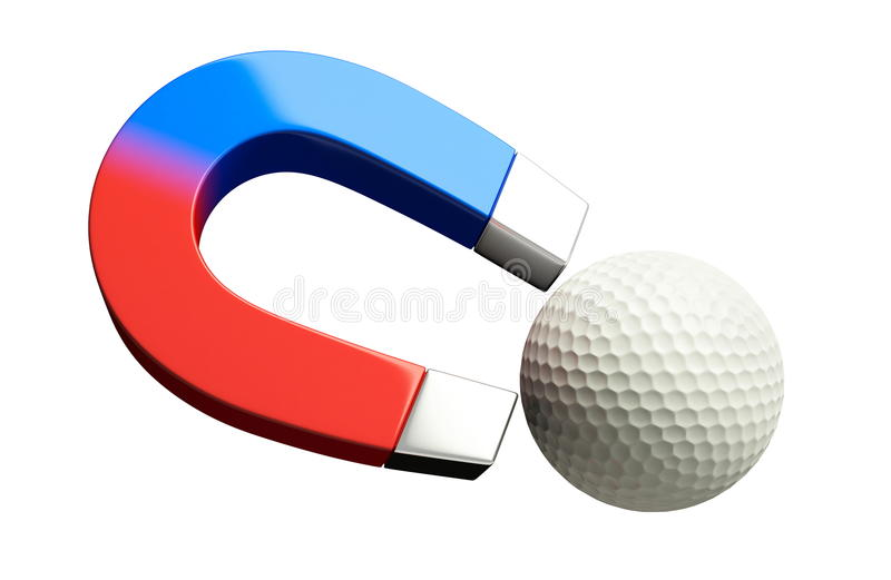 Download Magnet golf stock illustration. Image of object, field - 11446009