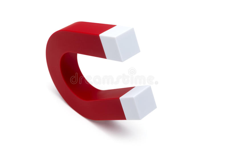 Magnet-Hufeisen Rote Farbe stockfotografie