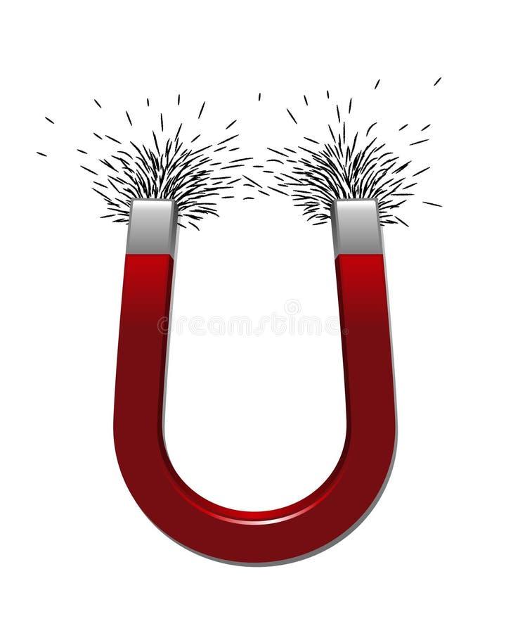 Magnet mit Eisenarchivierungen stock abbildung