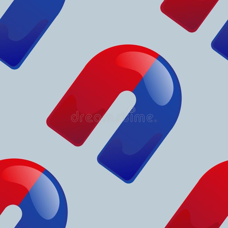 Magnet seamless pattern royalty free illustration