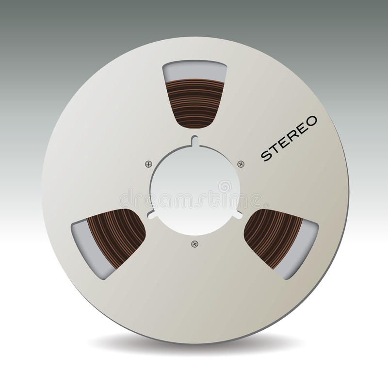 Magnetband- für Tonaufzeichnungenbandspule stock abbildung