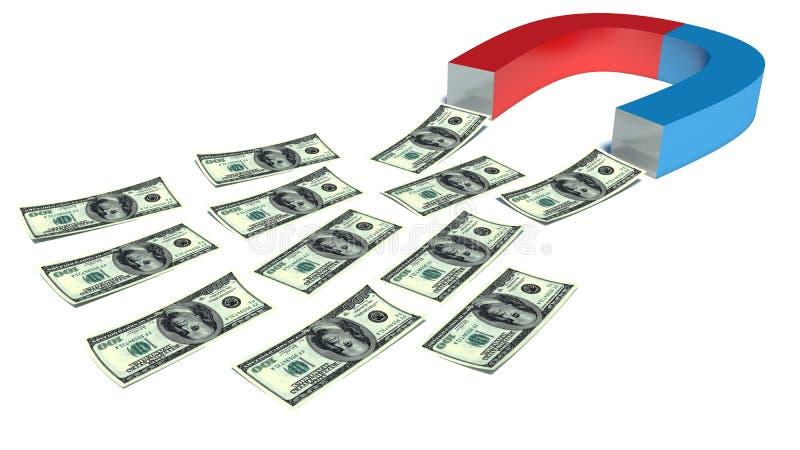 Magnete dei soldi royalty illustrazione gratis