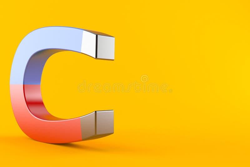 Magnete a ferro di cavallo illustrazione di stock