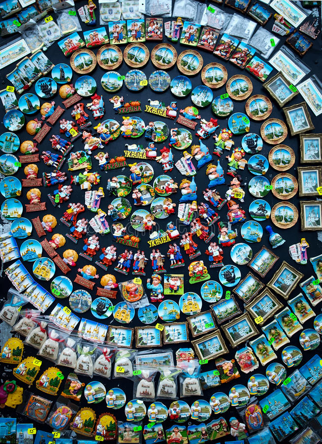 Magneten von Ukraine formten in eine Spirale lizenzfreies stockbild