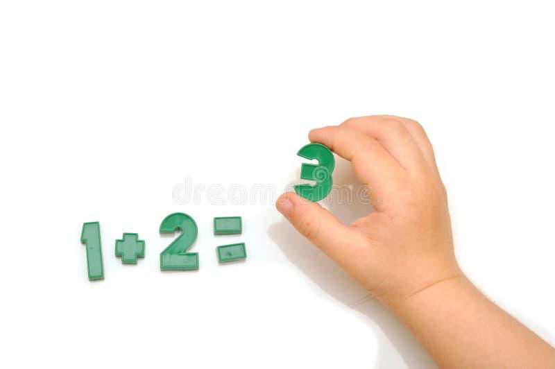 Magneti del frigorifero di numero immagine stock libera da diritti