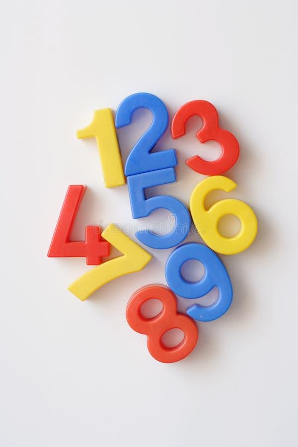 Magneti del frigorifero di numero fotografia stock libera da diritti