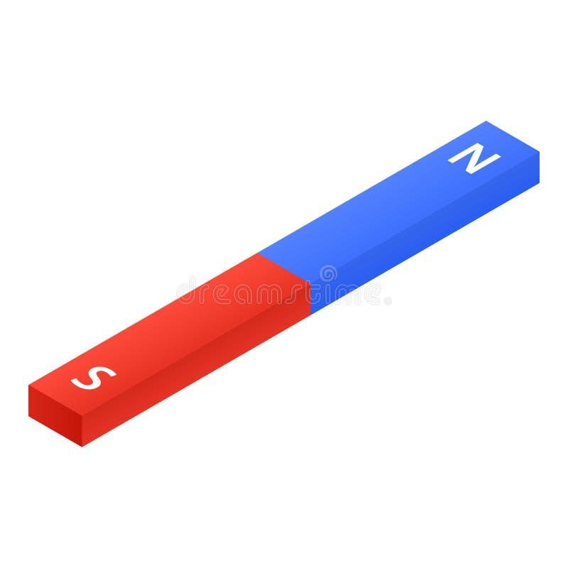 Magnetic bar icon, isometric style. Magnetic bar icon. Isometric of magnetic bar vector icon for web design isolated on white background royalty free illustration