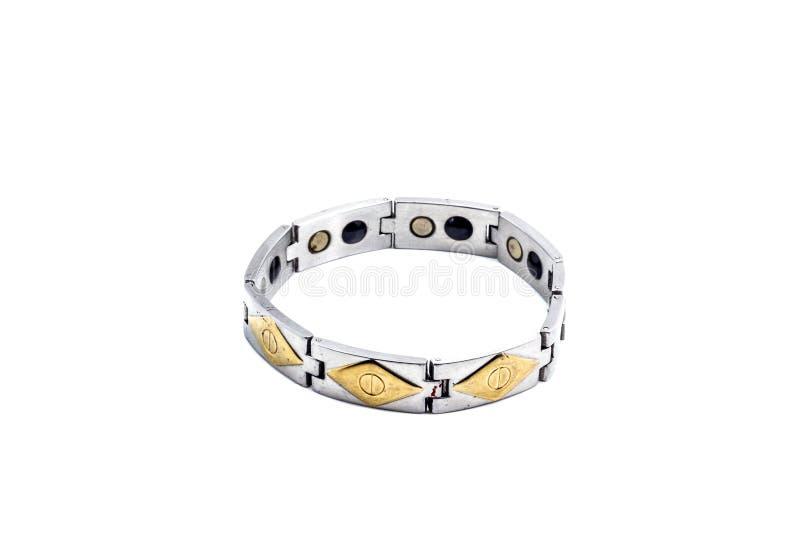 Magnetic bracelet. Isolated on white background stock images