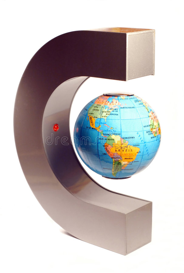 Magnetic globe royalty free illustration