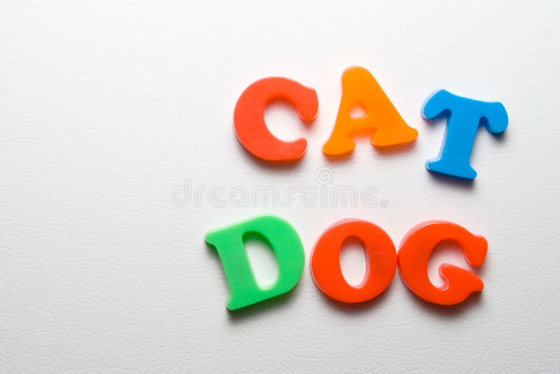 Magnetic Letters royalty free stock photos