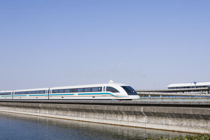 Magnetic levitation train royalty free stock image