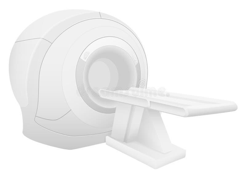 Magnetic resonance imaging device. Realistic MRI scanner vector illustration. vector illustration