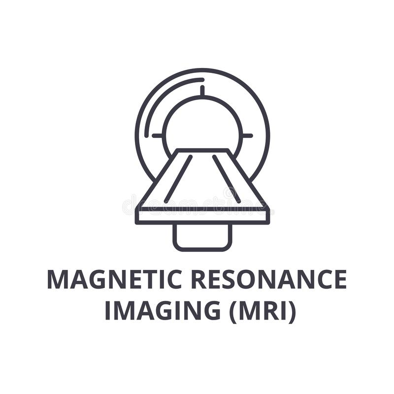 Magnetic resonance imaging mri thin line icon, sign, symbol, illustation, linear concept, vector royalty free illustration