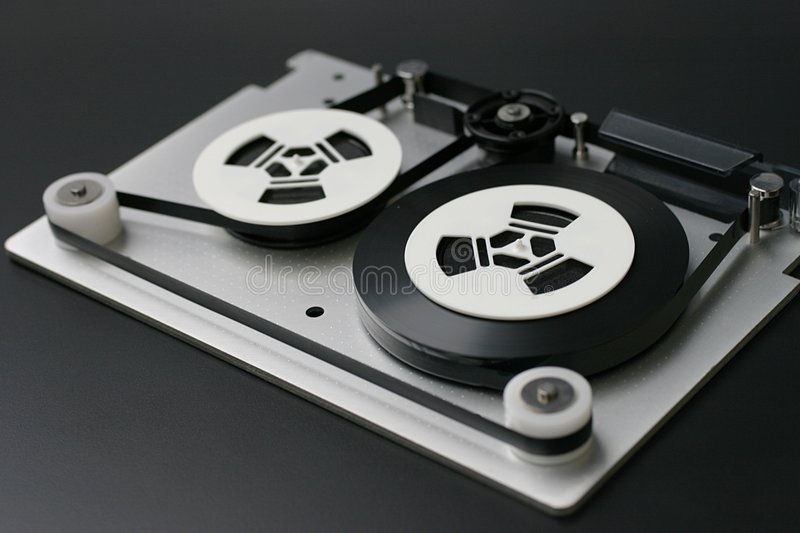 Magnetic tape royalty free stock photo