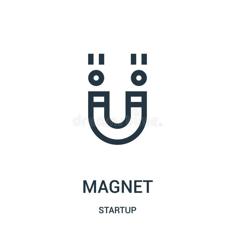 Magnetikonenvektor von der Startsammlung Dünne Linie Magnetentwurfsikonen-Vektorillustration lizenzfreie abbildung