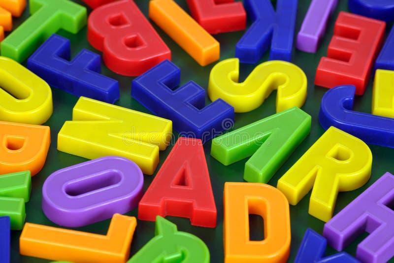 Magnetisch alfabet stock foto's