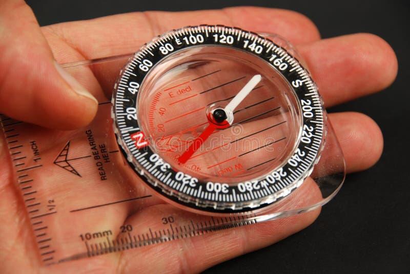 Magnetisch kompas royalty-vrije stock afbeelding