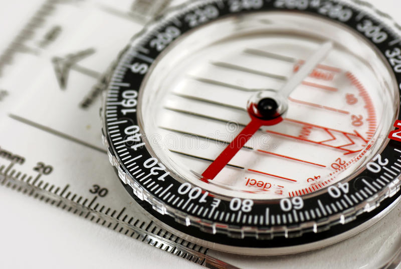 Magnetisch kompas stock foto