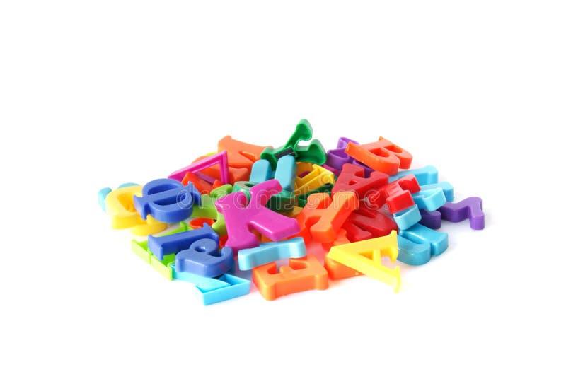 Magnetische brieven stock foto's